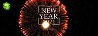 Happy New Year 2020 Fireworks Foto Sampul Facebook template