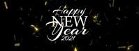 Happy New Year 2020 Golden Confetti 2