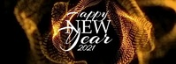 Happy New Year 2020 Golden Particles Foto Sampul Facebook template