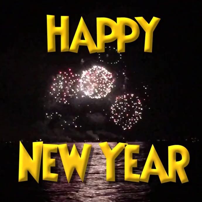 Selamat Tahun Baru 2020 Video Kembang Api Ucapan Templat Postermywall