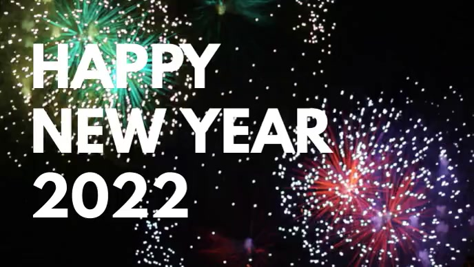 Happy New Year 2020 Greeting Video Firework