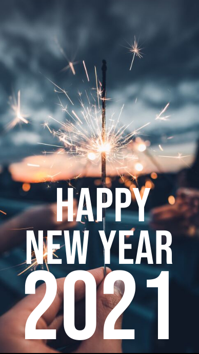 Happy new year 2020 instagram story template