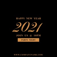 Happy New Year 2020 Instagram Video template