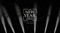 Happy New Year 2020 Light Beams
