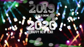 Happy New year 2020 poster