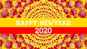 Happy new year 2020 poster flyer template