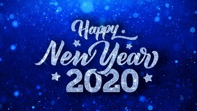 Happy New year 2020 poster template