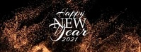Happy New Year 2021 Toast Couverture Facebook template