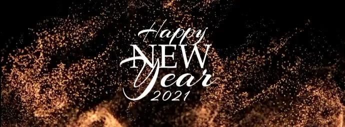 Happy New Year 2021 Toast Facebook-coverfoto template