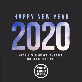 Happy New Year 2020 Video Cuadrado (1:1) template