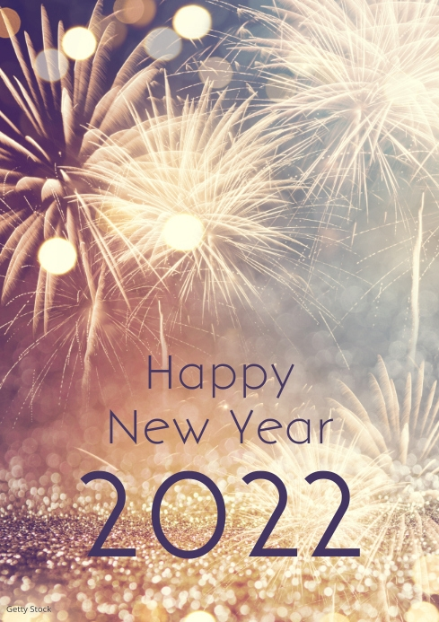 Happy New Year 2020 Wishes Greeting Card Template Postermywall