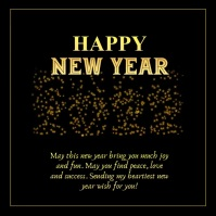 Happy New Year 2021 Wishes Greeting Card Gold