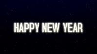 HAPPY NEW YEAR 2021 2022 数字显示屏 (16:9) template