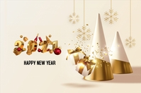 HAPPY NEW YEAR 2021 Banner 4' × 6' template