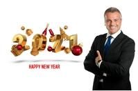 HAPPY NEW YEAR 2021 Cartel de 4 × 6 pulg. template