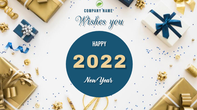 Happy New Year 2021 Digitalt display (16:9) template