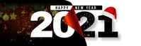 HAPPY NEW YEAR 2021 Spanduk 2' × 6' template