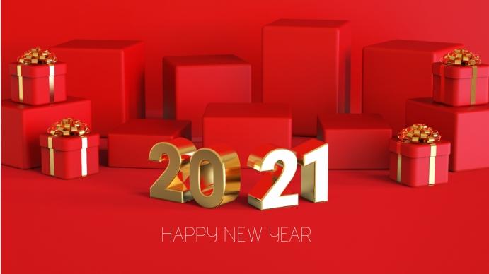 HAPPY NEW YEAR 2021 Tampilan Digital (16:9) template