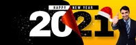 HAPPY NEW YEAR 2021 Spanduk 2' × 6' template