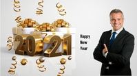 HAPPY NEW YEAR 2021 Pantalla Digital (16:9) template