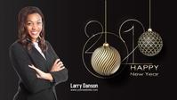 HAPPY NEW YEAR 2021 Vídeo de portada de Facebook (16:9) template