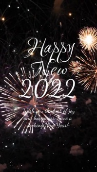 Happy New Year 2021 Firework Greeting Card Ad Instagram Story template