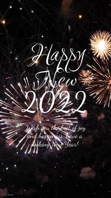 Happy New Year 2021 Firework Greeting Card Ad Historia de Instagram template