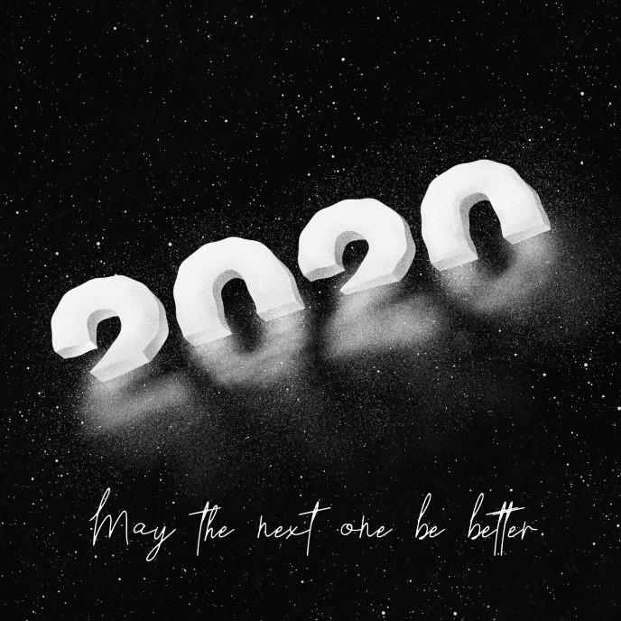 Happy New Year 2021 Funny Card Sampul Album template
