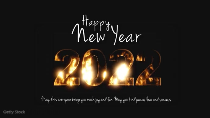Happy New Year 2021 Glitter sparkle Shine Ad Facebook 封面视频 (16:9) template