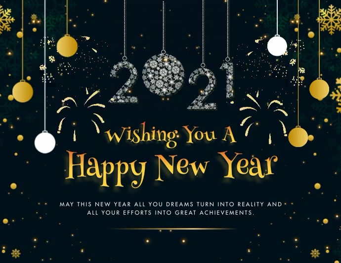 Happy New Year 2021 Greeting Card Animated Folder (US Letter) template