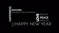 Happy New Year 2021 Greeting Video golden template