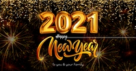 Happy New Year 2021 Post Template Facebook Shared Image