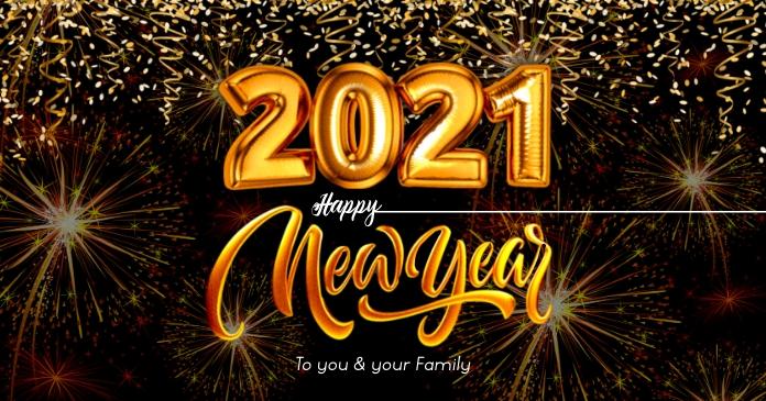 Happy New Year 2021 Post Template Gambar Bersama Facebook