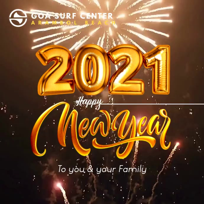 Happy New Year 2021 Video Template Pos Instagram
