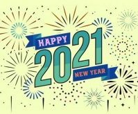 Happy New Year 2021 wishes gif with sound Medium Rectangle template