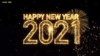 Happy new year 2021 wishes video Digital Display (16:9) template