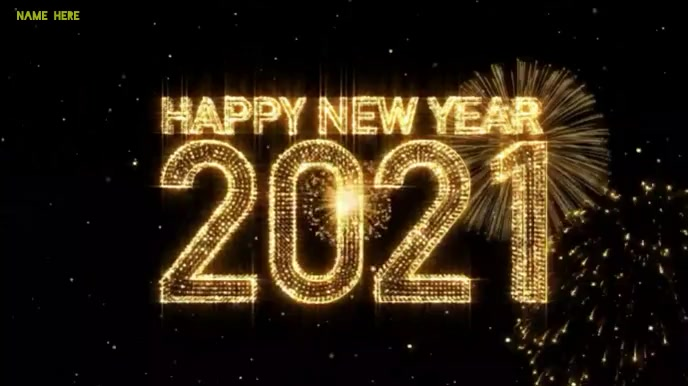 Happy new year 2021 wishes video Tampilan Digital (16:9) template
