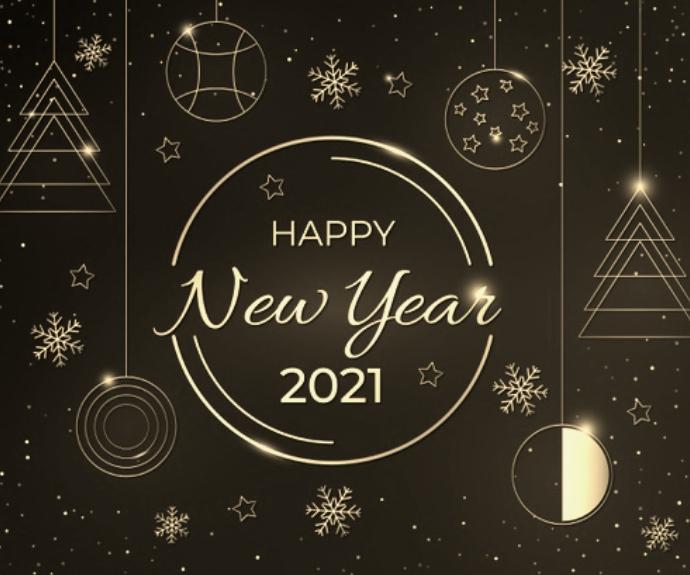 Happy New Year 2021 wishes wallpaper Mittelgroßes Rechteck template