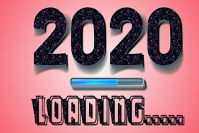 Happy New Year Card 2020 loading