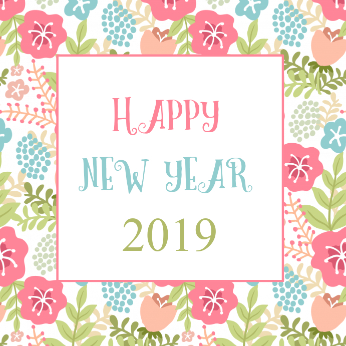 happy new year card customize template