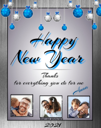 Happy New Year Card Affiche/Panneau mural template
