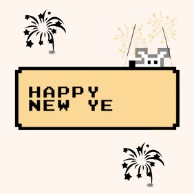 HAPPY NEW YEAR CARD SOCIAL MEDIA TEMPLATE