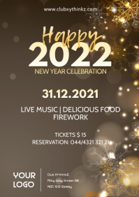 Happy New Year Celebration Event Party Advert