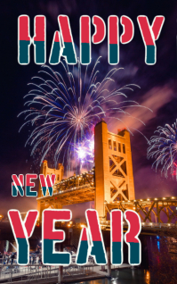 happy new year crad Kindle-Cover template