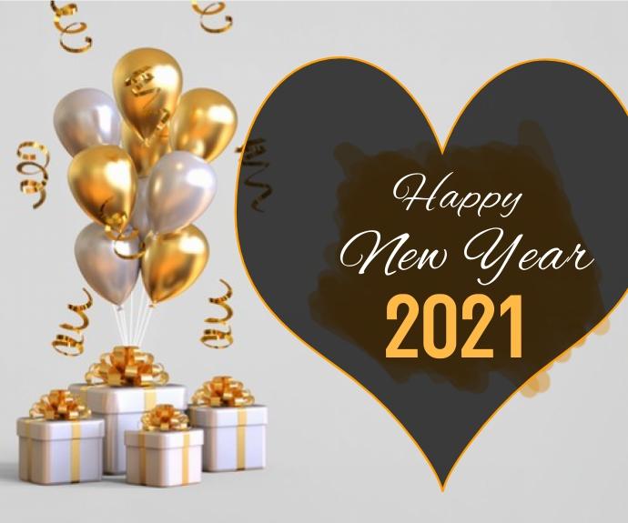 Happy New Year Persegi Panjang Sedang template