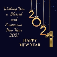 Happy New Year Instagram-bericht template