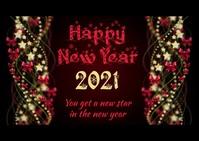 Happy New Year Postkort template