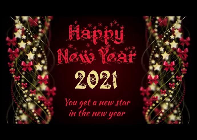 Happy New Year Kartu Pos template