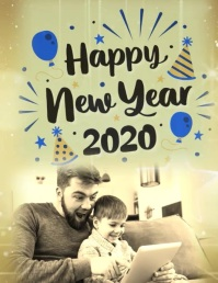 Happy New Year Flyer (US Letter) template