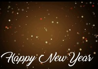 Happy New Year Carte postale template